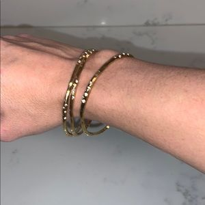 Stella and Dot Gold Bangles